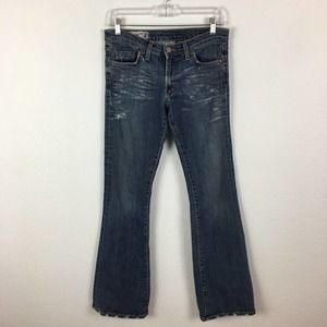 Red Engine Distressed Boot Cut Jeans size 28